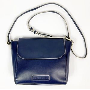 Vera Bradley Flap Blue Vegan Leather Crossbody Bag